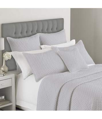 Riva Home Charroux - Housse décorative pour oreiller gaufrée (édition limitée) (Gris) - UTRV1070