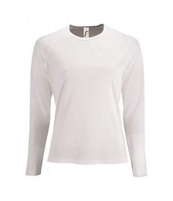 SOLS Womens/Ladies Sporty Long Sleeve Performance T-Shirt (White) - UTPC3131