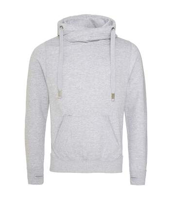 AWDis Hoods Mens Cross Neck Hoodie (Heather Grey) - UTRW5363