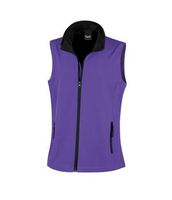 Result Core Womens/Ladies Printable Softshell Bodywarmer (Purple / Black) - UTRW3698
