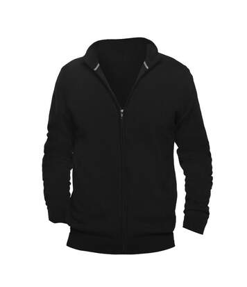SOLS Mens Gordon Full Zip Cardigan (Black) - UTPC504