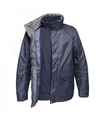 Regatta Mens Benson III Hooded Jacket (Grey Blue) - UTRG3742