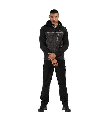 Regatta Mens Cartersville VII Full Zip Hooded Fleece (Magent/Black) - UTRG4944