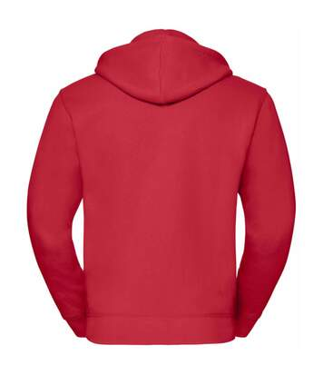 Russell Mens Authentic Full Zip Hooded Sweatshirt / Hoodie (Classic Red) - UTBC1499