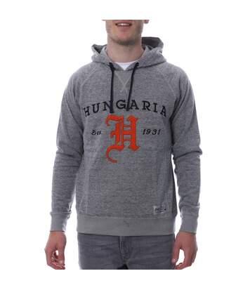 Sweat à capuche gris homme Hungaria H-Knight