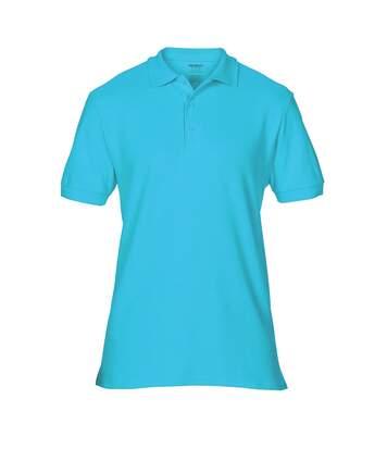 Gildan Mens Premium Cotton Sport Double Pique Polo Shirt (Lagoon Blue) - UTBC3194