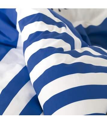 Parure de lit 240x220 cm 100% coton bio SEA Bleu 3 pièces