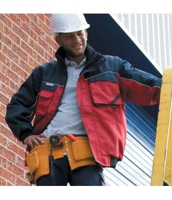 Result Mens Workguard Zip Sleeve Heavy Duty Water Repellent Windproof Jacket (Royal/Navy) - UTBC931