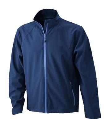 Veste softshell coupe-vent imperméable homme JN1020 - bleu marine
