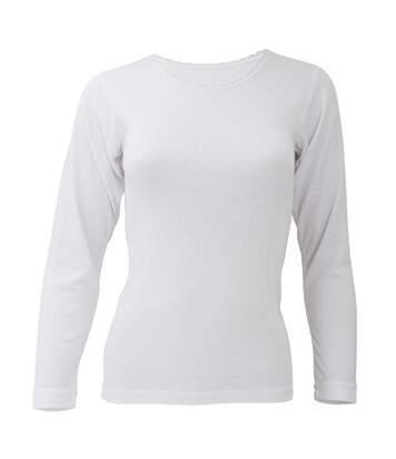 Floso - T-Shirt Thermique À Manches Longues - Femme (Blanc) - UTTHERM129