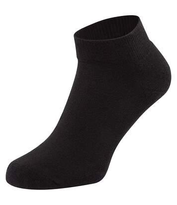 Fruit Of The Loom Unisex Quarter Trainer Socks (Pack Of 3) (White) - UTRW5631