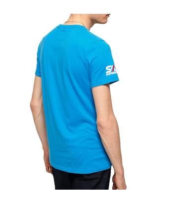 T-shirt Bleu Homme Superdry Retro Classic