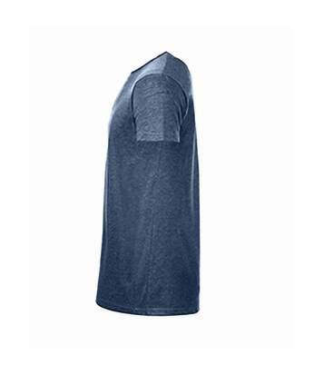 SOLS Mens Mixed Short Sleeve T-Shirt (Heather Navy) - UTPC2164