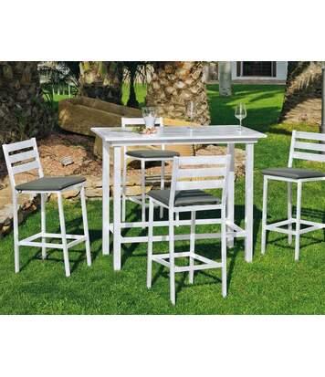 Bar de jardin avec 4 chaises Galicia