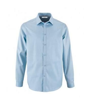 SOLS Mens Brody Herringbone Long Sleeve Shirt (Sky Blue) - UTPC3173