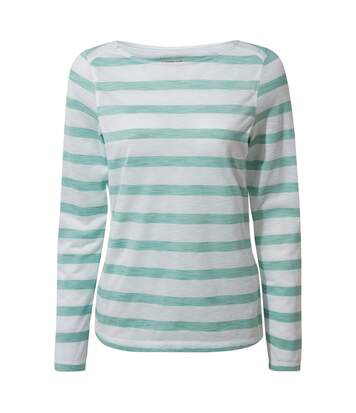 Craghoppers - T-Shirt Manches Longues Erin - Femme (Turquoise/blanc) - UTCG1284