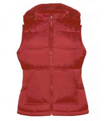 Doudoune femme sans manches - Bodywarmer JW935 - rouge