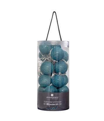 Atmosphera - Guirlande décorative lumineuse Bleue 20 boules LED D 6 cm et L 436 cm
