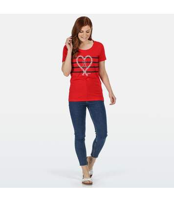 Regatta - T-shirt imprimé FILANDRA - Femmes (Rouge/noir/blanc) - UTRG5064