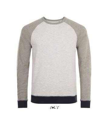 Sweat shirt vintage unisexe - 01700 - blanc chiné