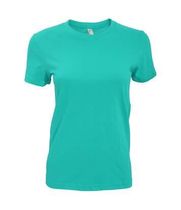 American Apparel - T-Shirt À Manches Courtes - Femme (Eau) - UTRW4036