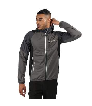 Regatta Mens Tarvos III Hooded Softshell Jacket (Magnet Grey/Ash/Black) - UTRG4927