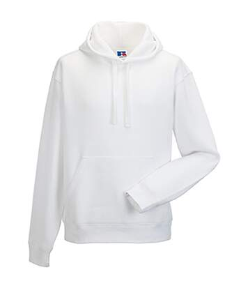 Russell Mens Authentic Hooded Sweatshirt / Hoodie (White) - UTBC1498