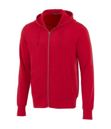 Elevate Mens Cypress Full Zip Hoodie (Red) - UTPF1860