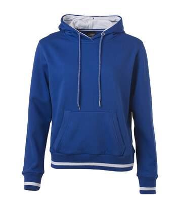 Sweat shirt à capuche femme - JN777 - bleu roi