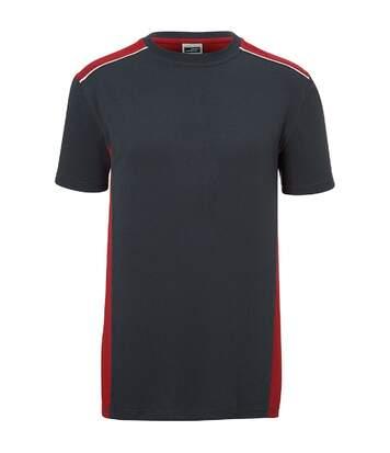 T-shirt de travail manches courtes - Homme - JN860 - gris carbone