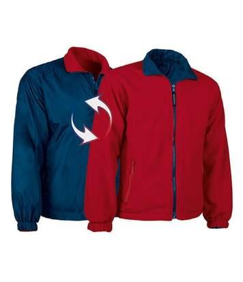 Veste polaire réversible - Homme - REF GLASGOW - bleu-marine - rouge