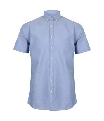 Henbury Mens Modern Short Sleeve Oxford Shirt (Blue) - UTRW5425