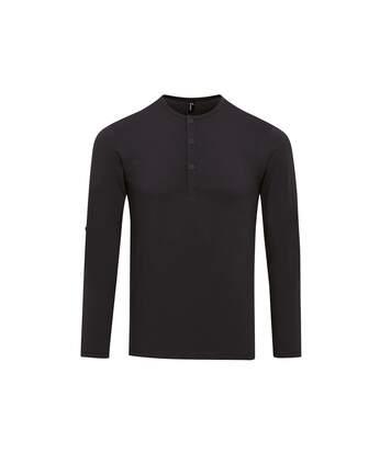 Premier - T-Shirt À Manches Longues - Homme (Noir) - UTRW6235