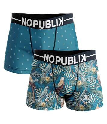 lot de 2 boxers homme microfibre tropical #2