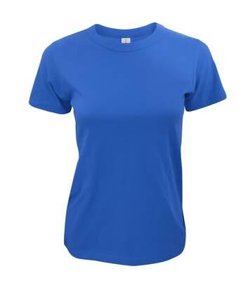 B&C Exact 190 - T-Shirt À Manches Courtes - Femme (Bleu royal) - UTBC126