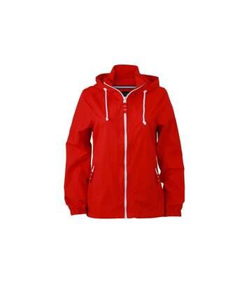 Coupe-vent - Veste de voilier - Femme - JN1073 - rouge