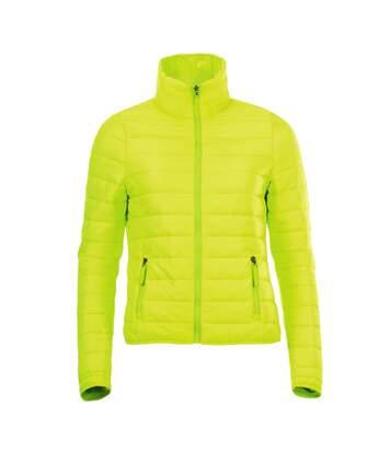 SOLS Womens/Ladies Ride Padded Water Repellent Jacket (Neon Green) - UTPC2155