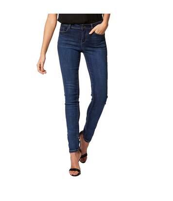Jeans Slim Bleu Femme Morgan Pom