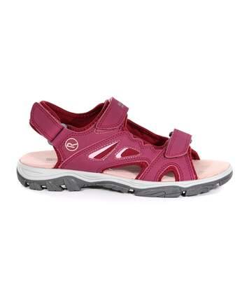 Regatta Womens/Ladies Holcombe Vent Sandals (Beetroot/Mellow Rose) - UTRG4523