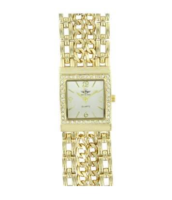Montre Femme M. JOHN bracelet Acier Doré