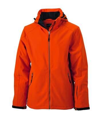 Veste softshell doublée - JN1054 - Orange - Homme - Sports d'hiver - Ski