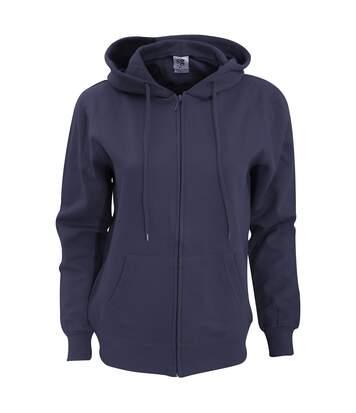 Sg - Sweatshirt Uni À Capuche Et Fermeture Zippée - Femme (Bleu marine) - UTBC1076