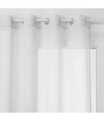 Atmosphera - Voilage blanc 140x240 motif arno