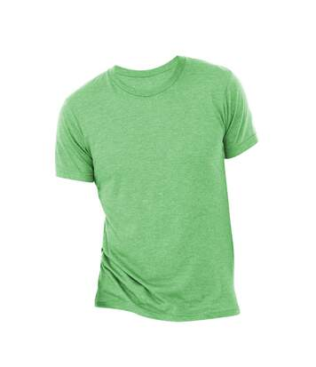 Canvas Mens Triblend Crew Neck Plain Short Sleeve T-Shirt (Grass Green Triblend) - UTBC2596