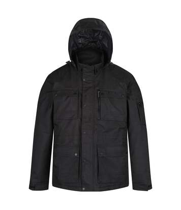 Regatta Mens Erving Jacket With Concealed Hood (Black) - UTRG4482