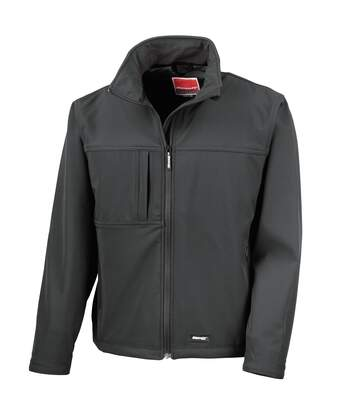 Result Mens Softshell Premium 3 Layer Performance Jacket (Waterproof, Windproof & Breathable) (Black) - UTBC2046