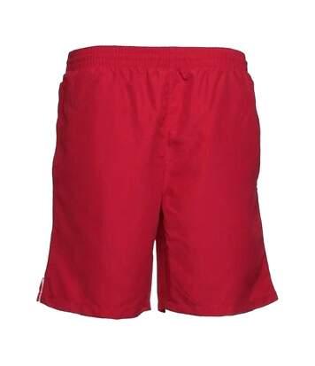 Gamegear® Track Sports Shorts / Mens Sportswear (Red/White) - UTBC439