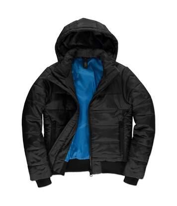 Doudoune à capuche amovible pour femme - JW941 - Noir