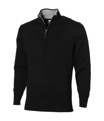 Slazenger Set Quarter Zip Pullover Jumper (Solid Black) - UTPF1755