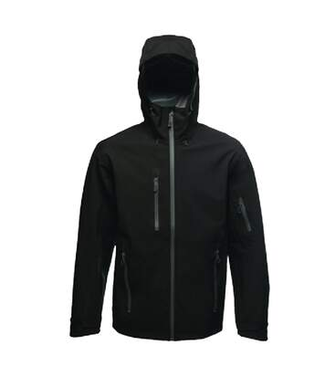 Regatta Mens Triode 3 Layer Waterproof Shell Jacket (Black) - UTRG3544